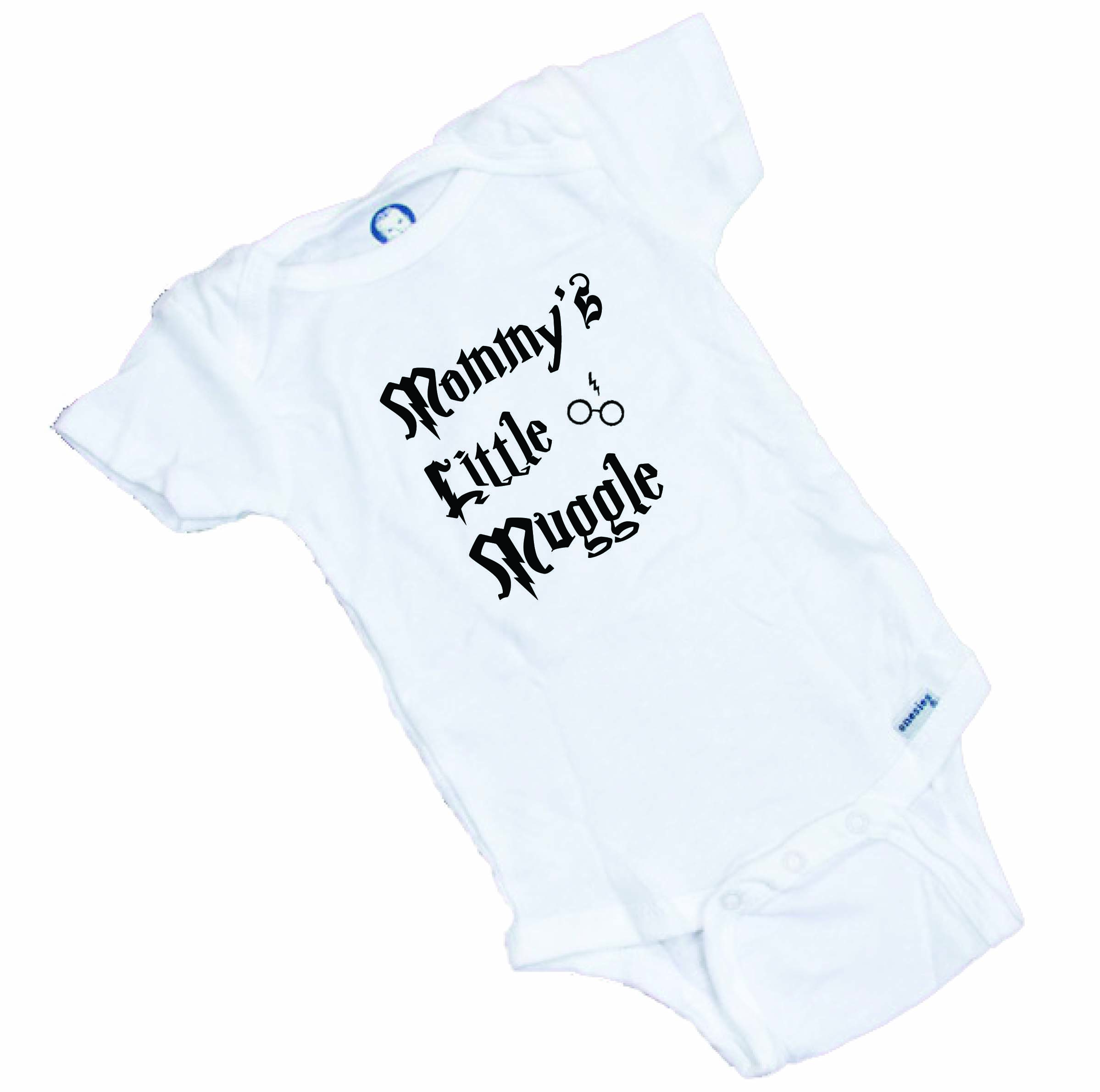65339ce4d Mommy's Little Muggle Funny Harry Potter Baby Onesie   Wonderful ...